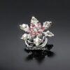 Curlie Met Een Bloemetje En Strass Steentjes 20mm Kleur Roze EBC23-Roze