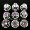 Curlie Met Strass Steen 8mm Kleur Lavendel 6H0044-Lavendel
