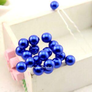 Haarpin Met Parel 10mm Kleur Donkerblauw haar_026-Donkerblauw