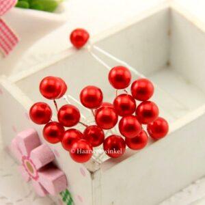 Haarpin Met Parel 10mm Kleur Rood haar_026-Rood