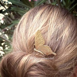 Haarkam Goudkleurig Met Vlinder Vintage Style Kleur Goud EBK108
