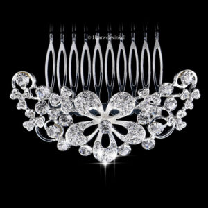 Haarkam Vintage Style Met Bloemetjes Van Oostenrijks Kristal Kleur Clear