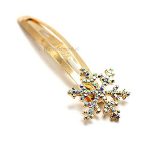 Haarknipje Click-Clack Sneeuwvlokje Van Oostenrijks Kristal Kleur Multicolour CC004