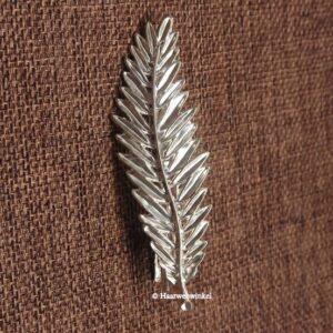Haarspeld Met Zilverkleurig Bloemblad Kleur Zilver EBS22-Zilver