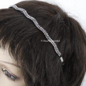 Diadeem Haarbeugel Met Smalle Rij Strass Steentjes Haarwebwinkel