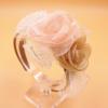 Diadeem Haarbeugel Satijn Met Bloemen Van Tule Roze Champagne Haarwebwinkel