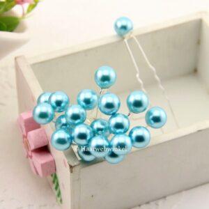 Haarpin Met Parel 10mm Kleur Turquoise Blauw Haarwebwinkel