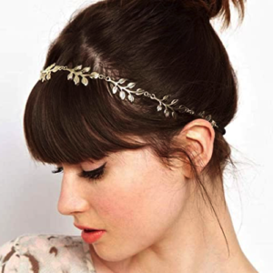 Haarsnoer Haarband Met Blaadjes Goudkleur Bohemian Retro Ibiza Style Haarwebwinkel