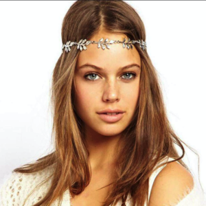 Haarsnoer Haarband Met Blaadjes Zilverkleur Bohemian Retro Ibiza Style Haarwebwinkel