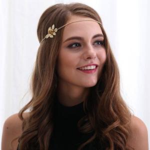 Haarsnoer Haarband Met Roosje Goudkleur Bohemian Retro Ibiza Style Haarwebwinkel