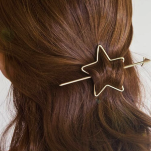 Haarspeld Goudkleurig Opengewerkt Met Ster Kleur Goud Haarwebwinkel (1)