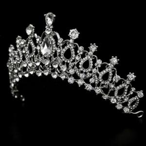Tiara Queen Verzilverd Met Oostenrijks Kristal Haarwebwinkel