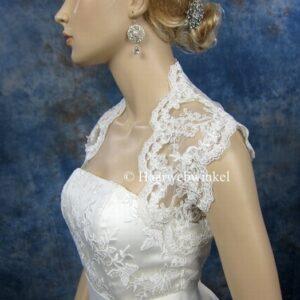 Luxe kanten Bolero Voor Bruidsjurk Wit Maat M Haarwebwinkel