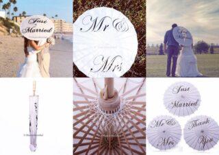 Wauw❤️ Deze handgeschilderde bruidsparasols van bamboe zijn nieuw binnen en uit voorraad leverbaar met de tekst 'Mr. & Mrs.', 'Just Married' en 'Thank you'. Te bestellen op www.haarwebwinkel.nl #trouwen #huwelijk #bruid #bruidsmode #parasol #wedding #umbrella #bride #groom #trouwjurk #bruidsjurk #mr #mrs #justmarried #thankyou